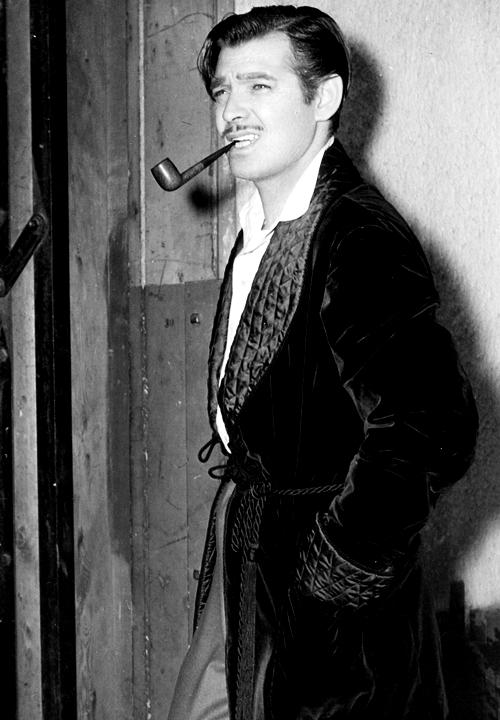 Clark Gable z fajką w ustach