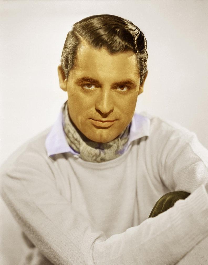 Cary Grant z przylizanymi włosami