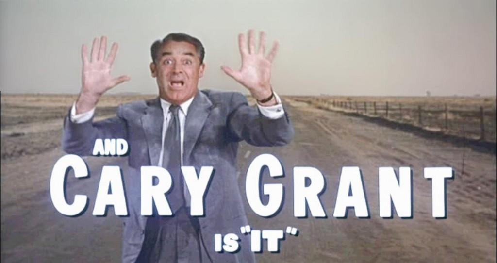 przestraszony Cary Grant