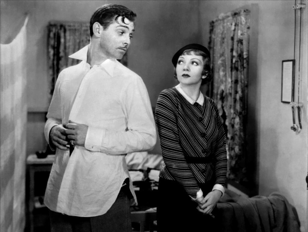 Clark Gable w białej koszuli