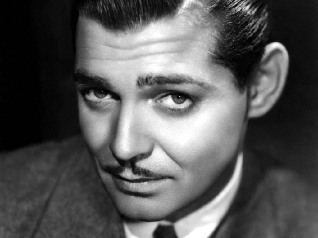 Clark Gable - czarno-białe zdjęcie
