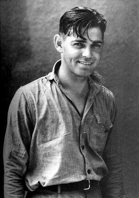 uśmiechnięty Clark Gable