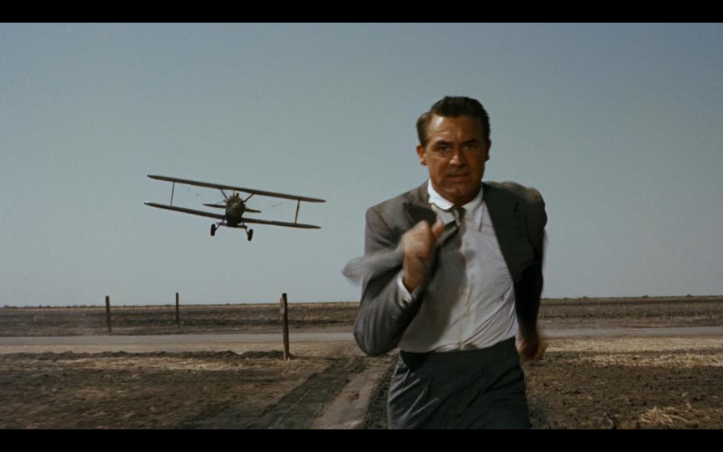 Cary Grant ucieka przed samolotem