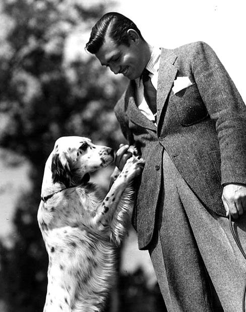 Clark Gable z psem