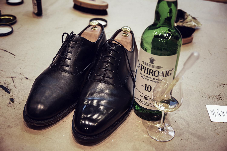 wypielęgnowane buty na prawidłach