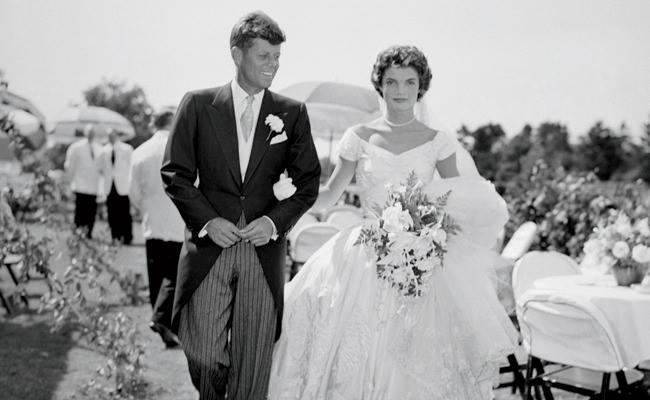 zdjęcie ślubne Jackie Kennedy i jej męża