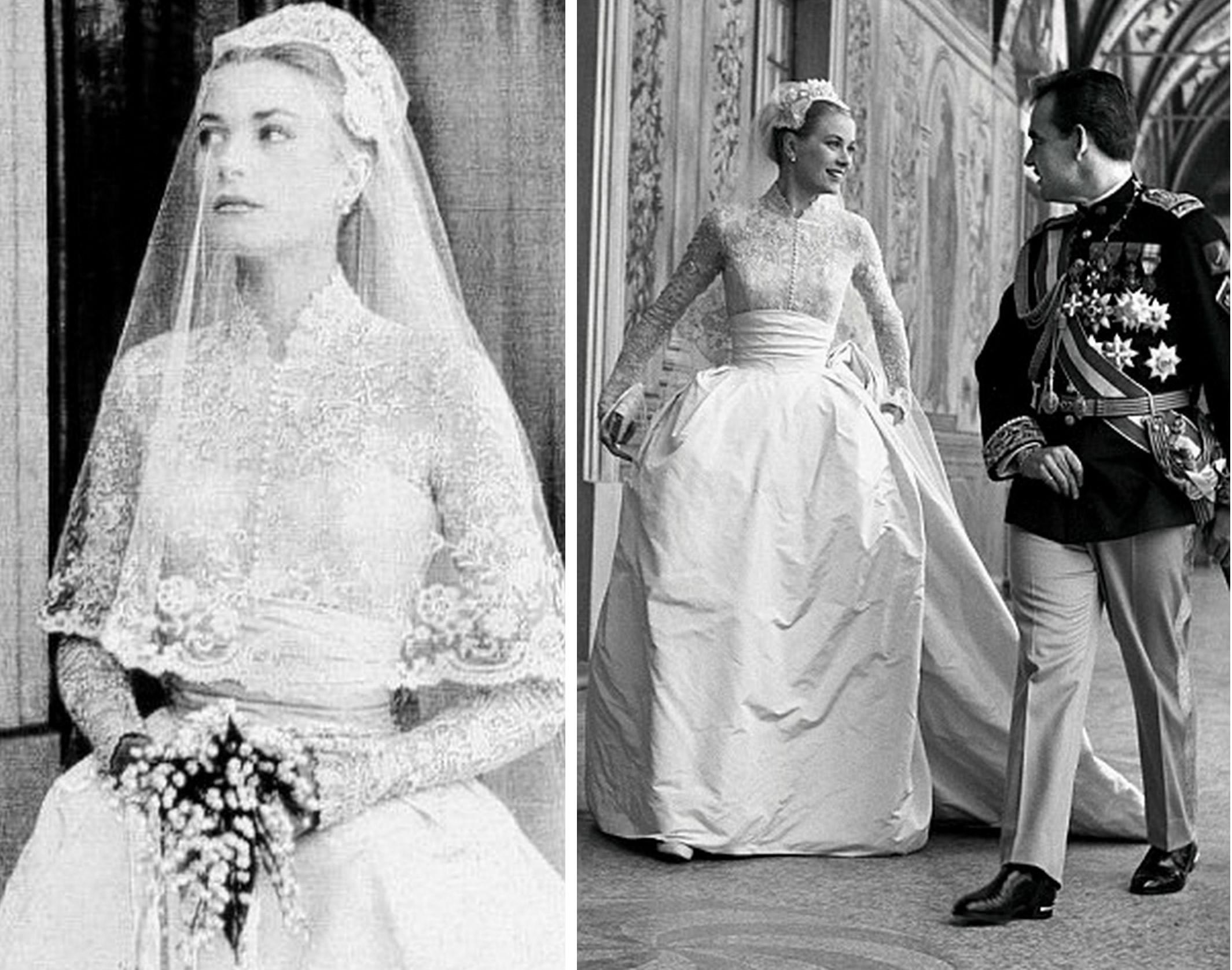 Grace Kelly w sukni ślubnej
