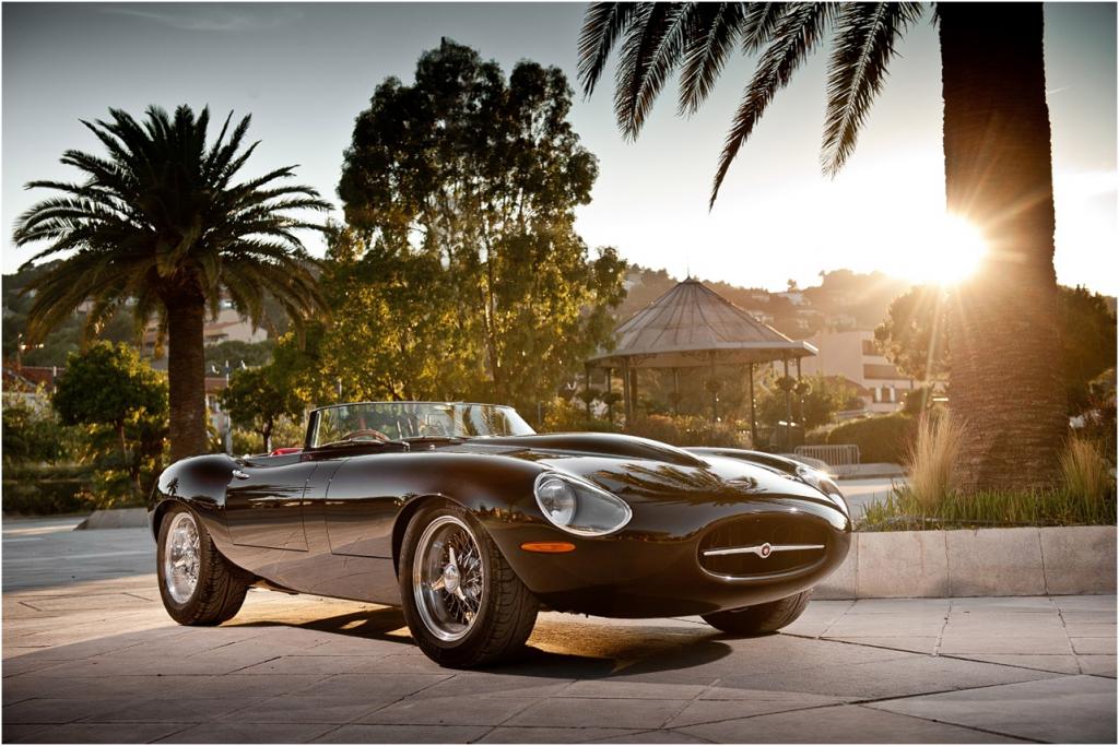 czarny Jaguar E-Type
