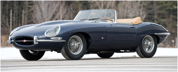 Jaguar E Type - widok z boku