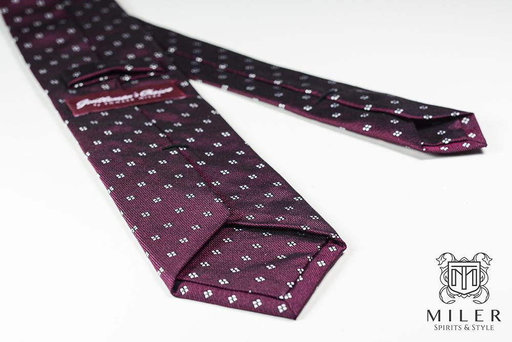 fioletowy, jedwabny krawat