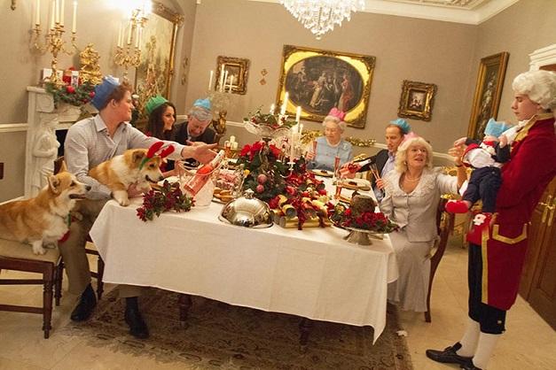 brytyjska rodzina królewska podczas obchodów świąt Bożego Narodzenia