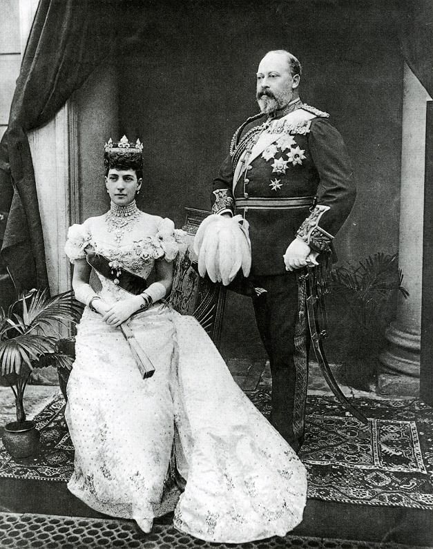 Edward VII z żoną Aleksandrą