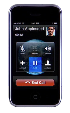 iPhone z wykręconym numerem Johna Appleseed