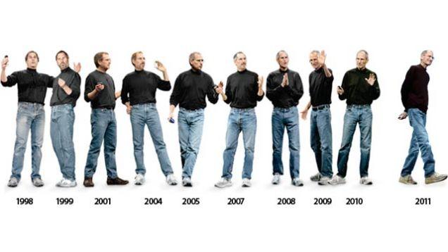 Ewolucja stylu Steve'a Jobsa na przestrzeni 13 lat
