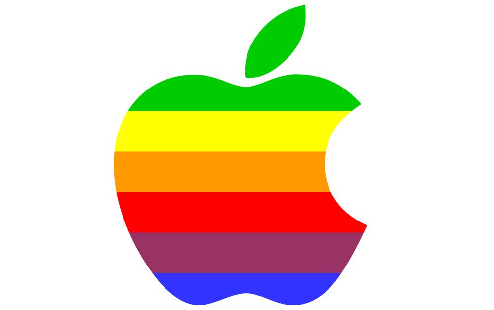 tęczowe logo Apple