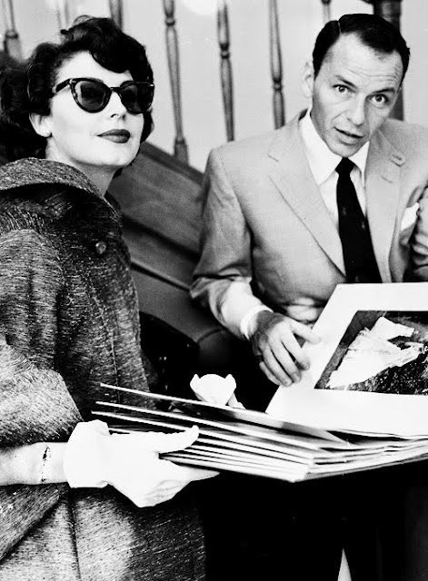 Frank Sinatra z drugą żoną, Avą Gardner