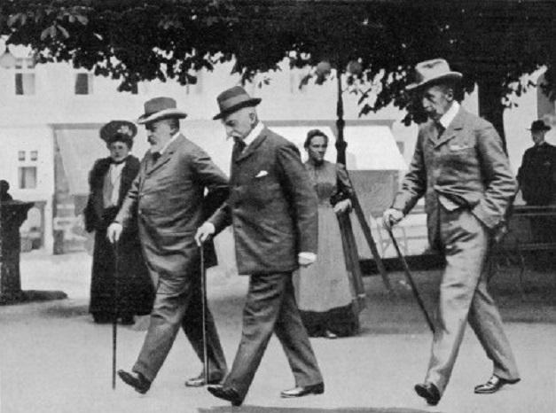 Edward VII na przechadzce w Marienbadzie