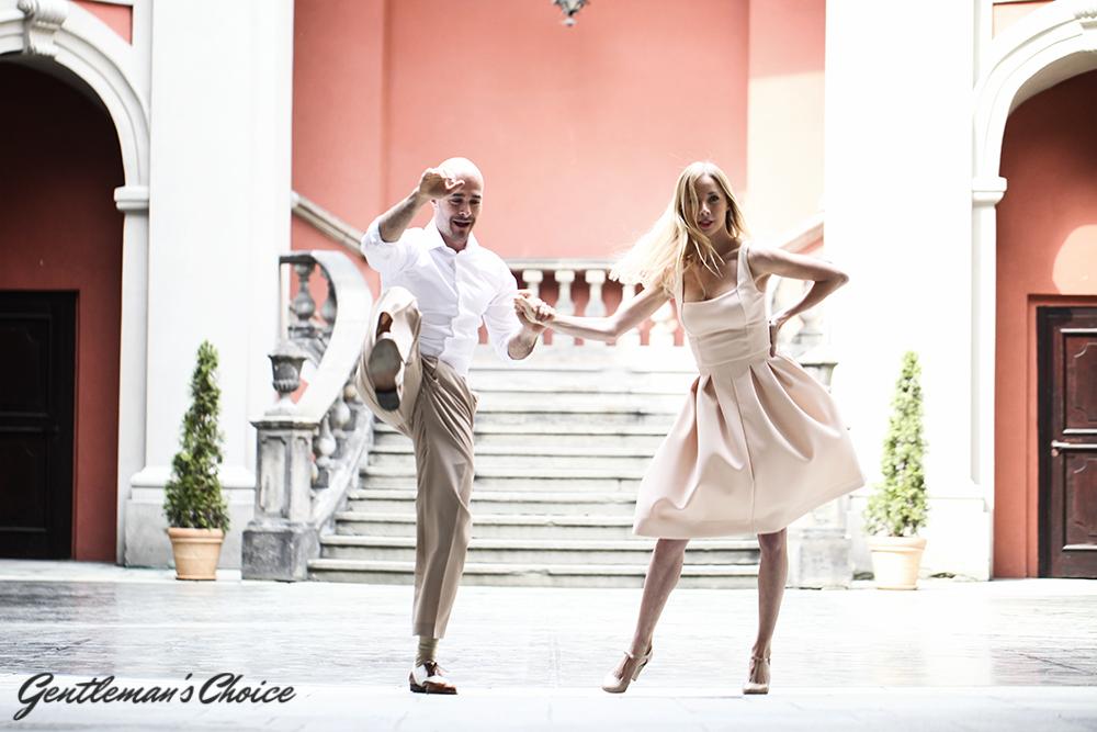 salsa: tańcząca para
