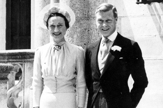 Książę Edward i Wallis Simpson w dniu ślubu
