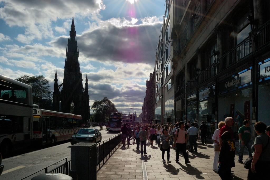 Princes Street późnym popołudniem