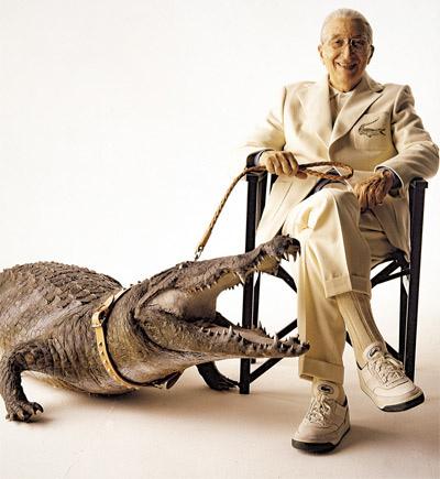 Rene Lacoste z krokodylem