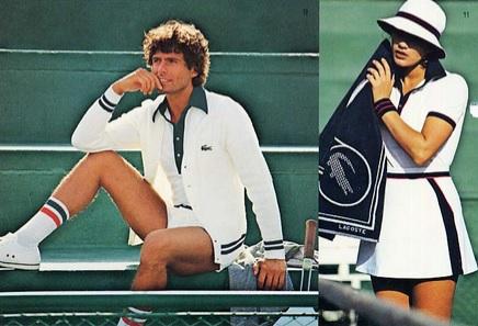 Klasyczny strój do tenisa z lat 80.
