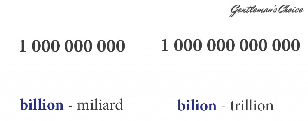 billion = miliard, bilion - trillion