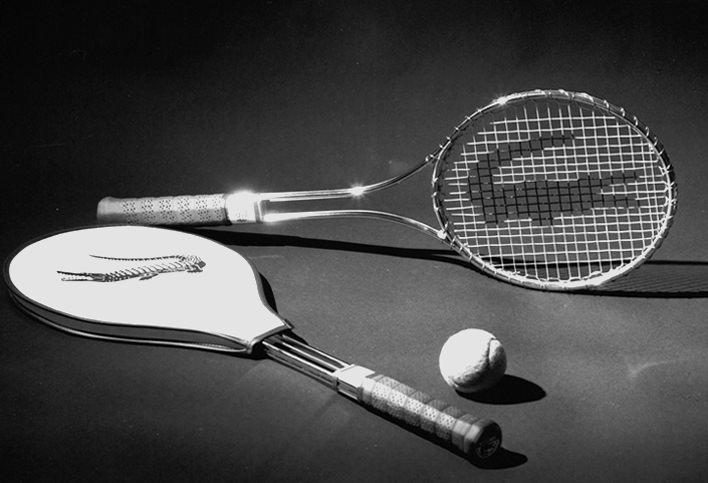 stalowa rakieta do tenisa Lacoste