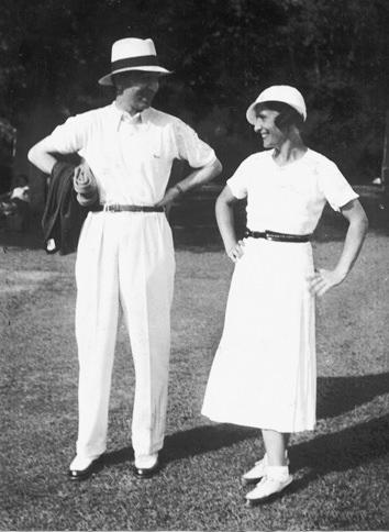 Rene Lacoste z żoną