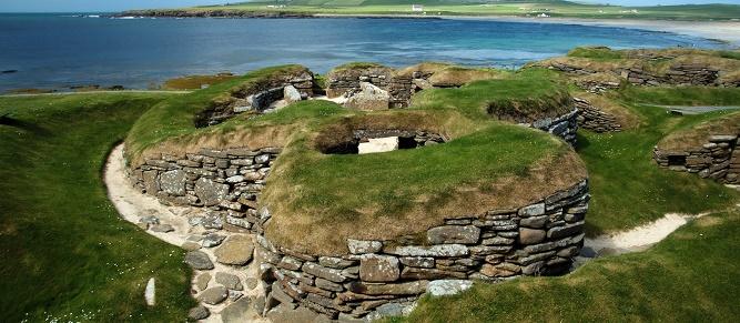 17 - Prehistoryczna osada Skara Brae na Orkadach. (1)