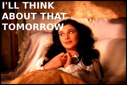 Scarlett O'Hara w łóżku - kadr z Przeminęło z wiatrem