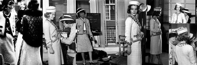 Romy Schneider jako klientka Coco Chanel