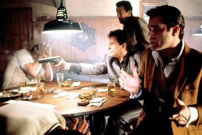 GOODFELLAS, Joe Pesci, Robert De Niro, Ray Liotta, 1990    FILM STILL