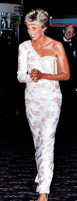 Księżna Diana w białej sukni