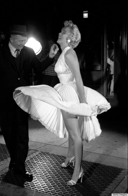 Marilyn Monroe na planie Słomianego wdowca
