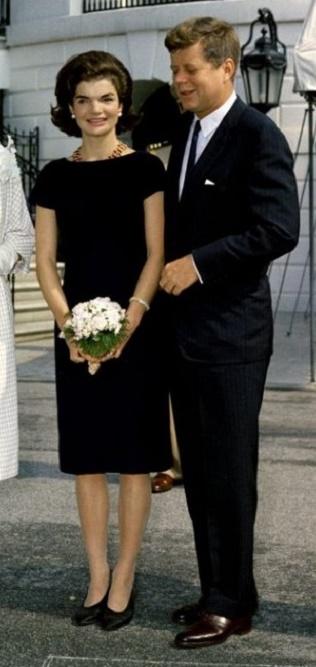 Jackie Kennedy z mężem