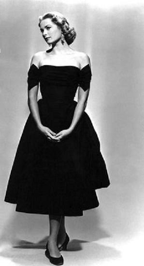 Grace Kelly w czarnej sukience