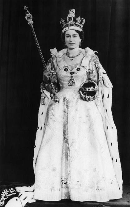 Elżbieta II w dniu koronacji