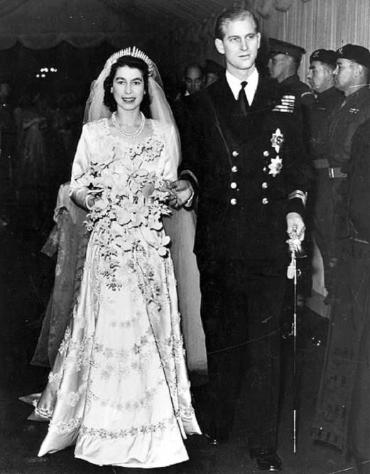 Elżbieta i Filip na ślubnym kobiercu