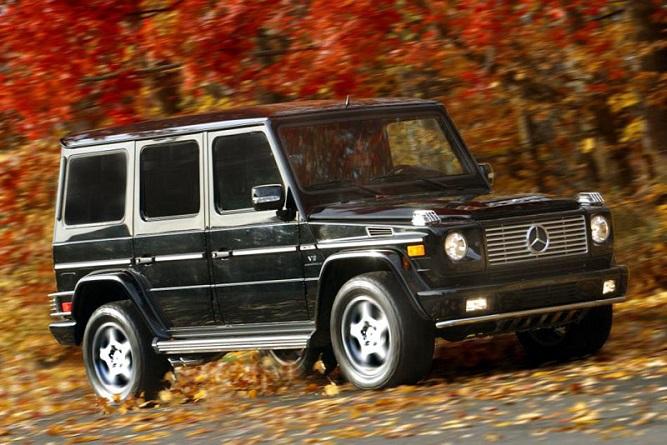 Czarny Mercedes-Benz G 55 AMG