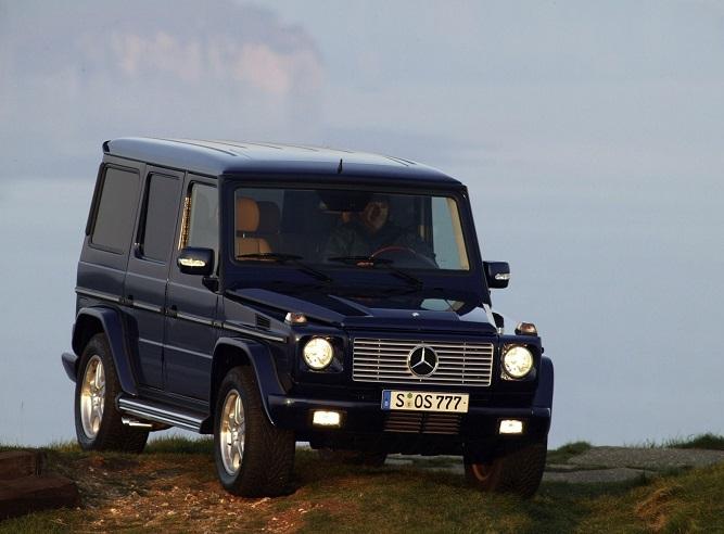 Mercedes G na wzgórzu