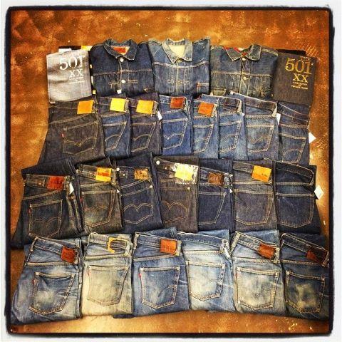 Kilka modeli jeansów levis 501