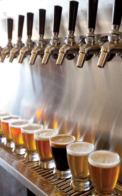 krany z piwem