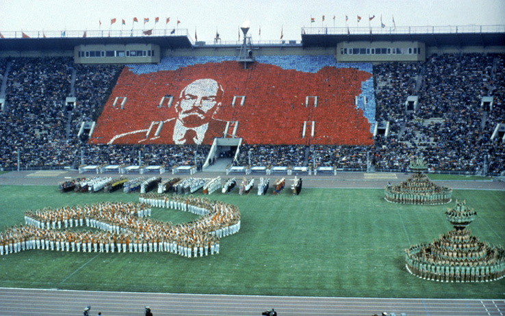 MOSCOW - JULY 19: General view of the Opening ceremonies of the 1980 Summer Olympic Games on July 19, 1980 in Moscow, Russia. (Photo by Tony Duffy/Getty Images)