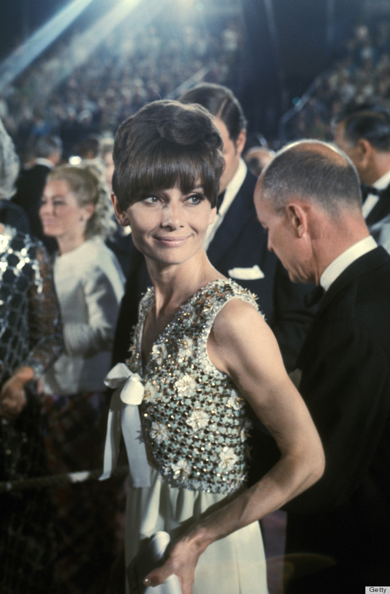 Audrey Hepburn at the Dorothy Chandler Pavilion in Los Angeles, California (Photo by Ron Galella/WireImage)