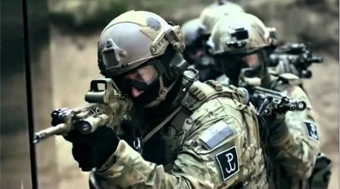 komandosi gromu podczas akcji