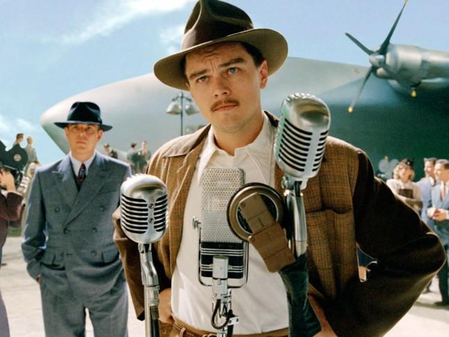 "Leonardo di Caprio jako Howard Hughes w filmie ""Aviator""; fot.marieclaire.co.uk"