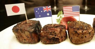mięsa z krów kobe z różnych rejonów świata