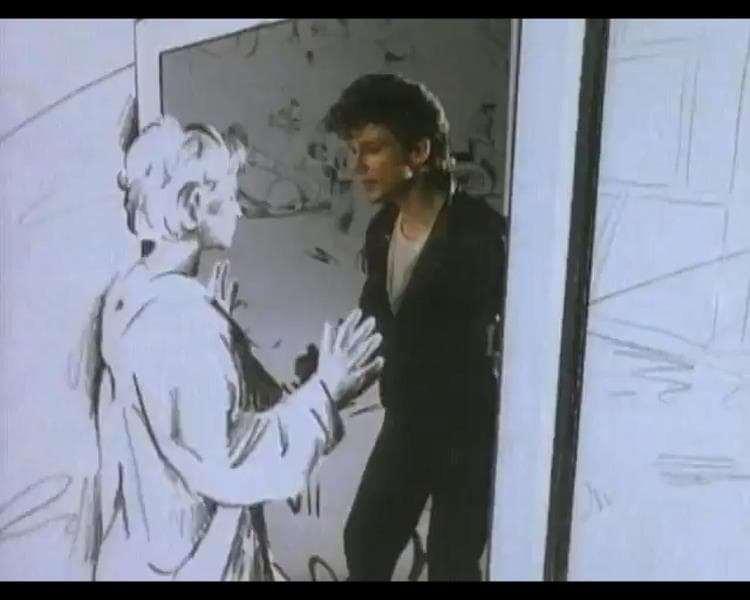 Kadr z teledysku Take On Me grupy A-Ha.